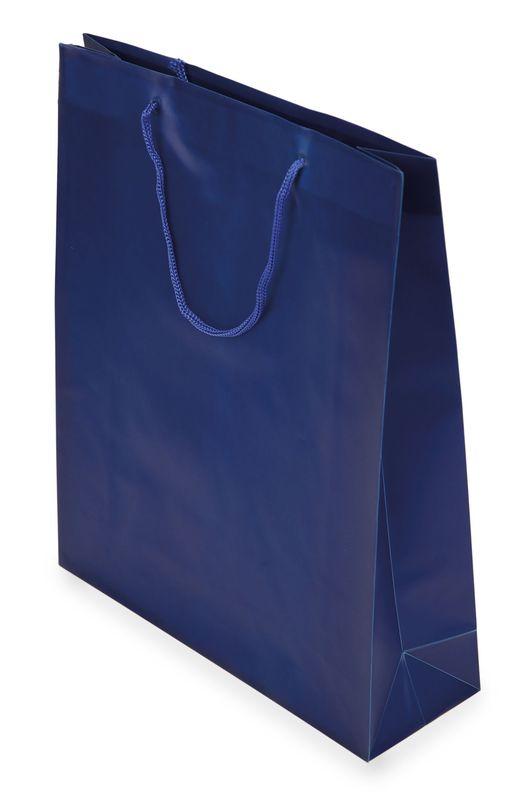 Dárková taška PVC modrá 26x32x8,5 cm