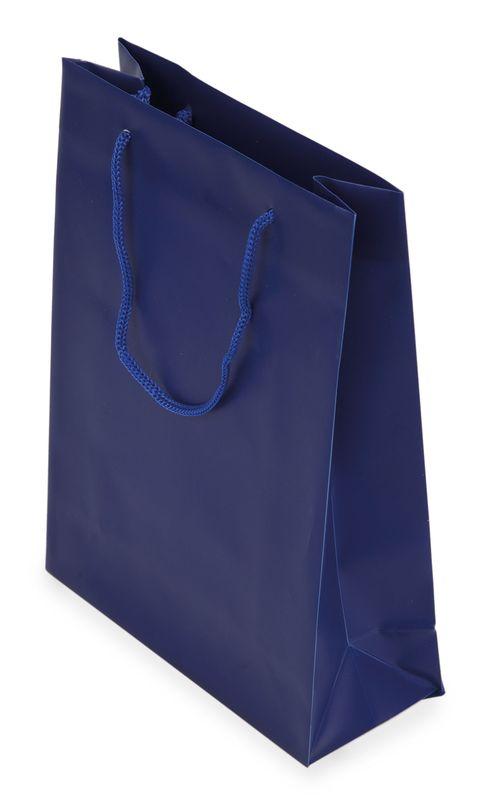 Dárková taška PVC modrá 18x24x7,5 cm