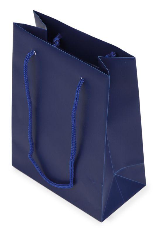 Dárková taška PVC modrá 12x16x6,5 cm