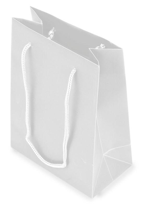 Dárková taška PVC šedá 12x16x6,5 cm