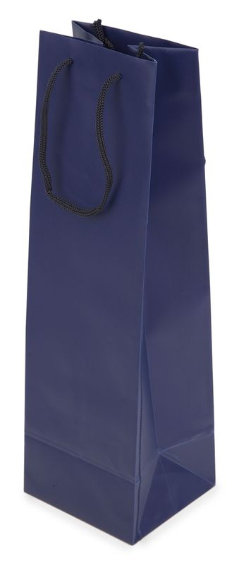 Dárková taška PVC na víno modrá