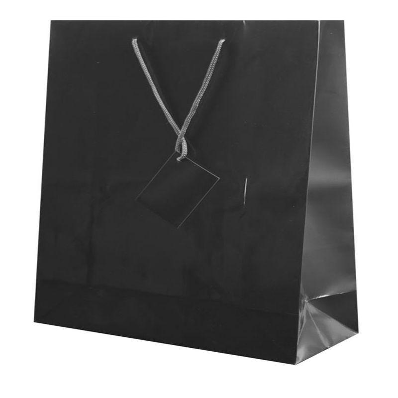Dárková taška černá 40x36x11 cm