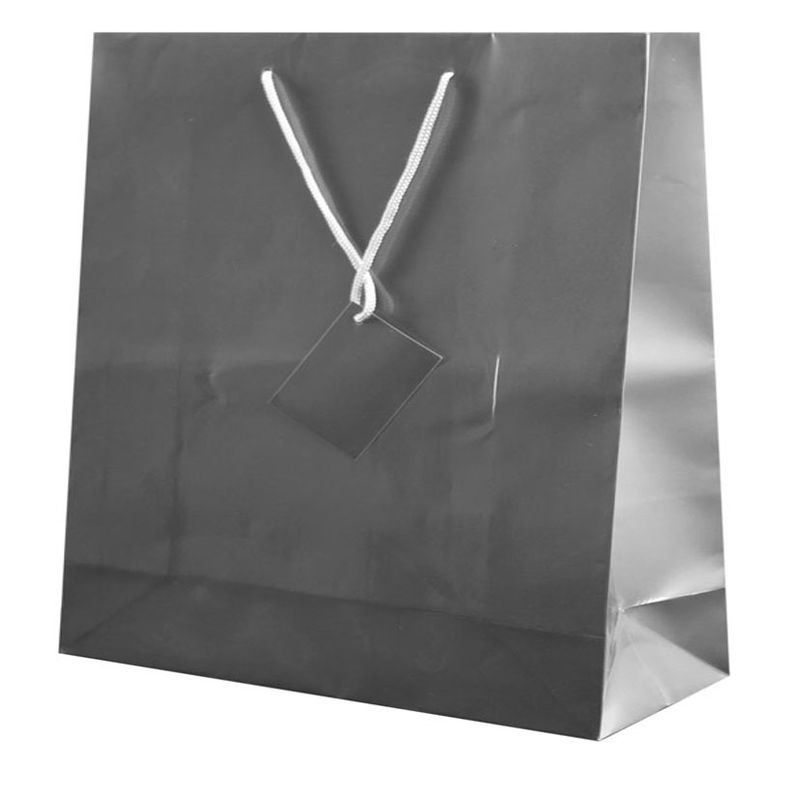 Dárková taška stříbrná 40x36x11 cm