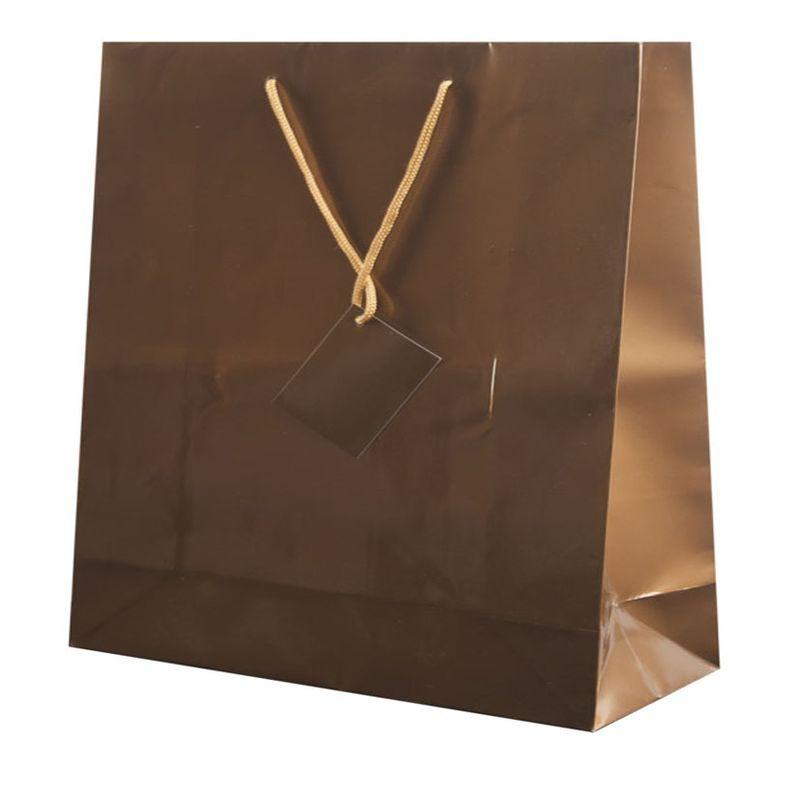 Dárková taška zlatá 40x36x11 cm