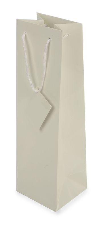 Dárková taška na víno bílá