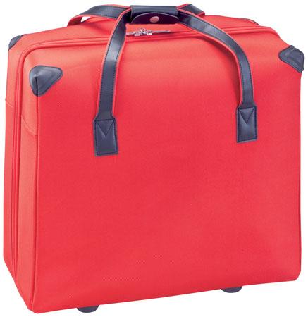 Hank červená taška na kolečkách s potiskem