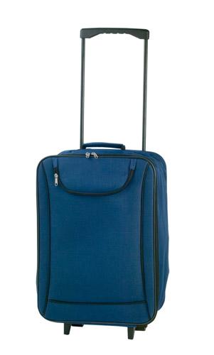 Soch modrý kufřík na kolečkách