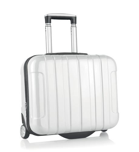 Sucan bílý kufr na kolečkách