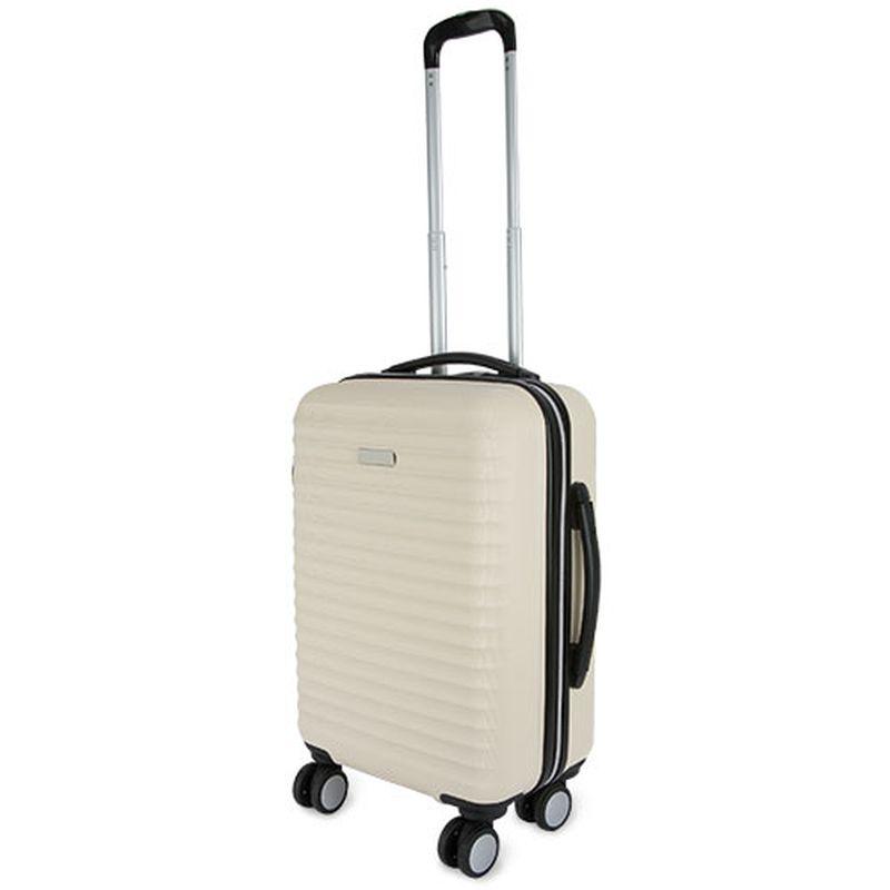 Kufr  krémová s potiskem