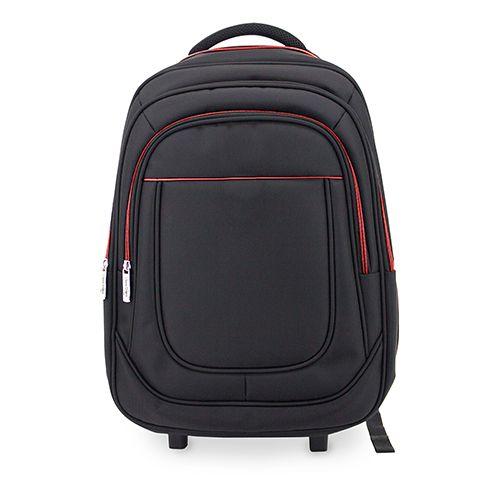 Cestovní batoh s kolečky černo-červený