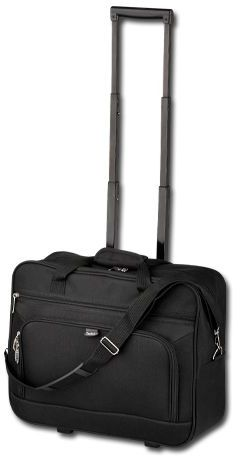 SEAL polyesterový kufr na kolečkách, 600D, SANTINI, černá