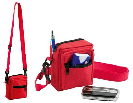 Červená taška přes rameno zapínatelná