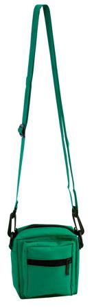 Zelená taška přes rameno zapínatelná