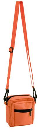 Oranžová taška přes rameno zapínatelná