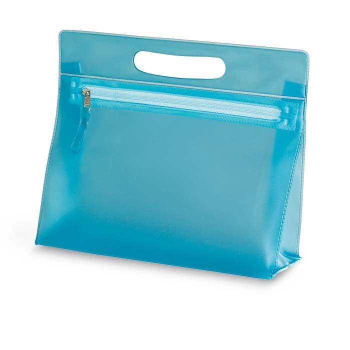 Modré transparentní PVC pouzdro