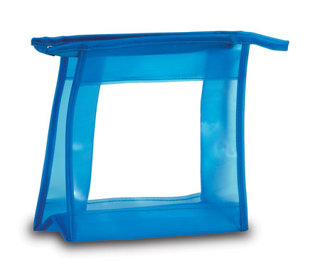 Modrá kosmetická taška na zip