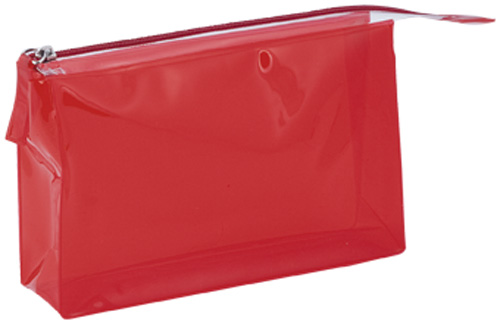 Lux červená kosmetická taška