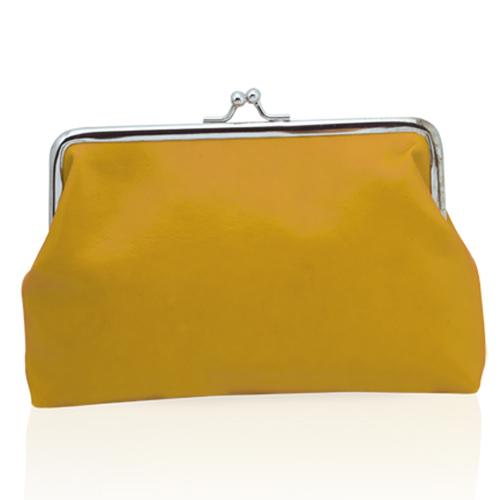 Žlutá kosmetická taštička s klipem