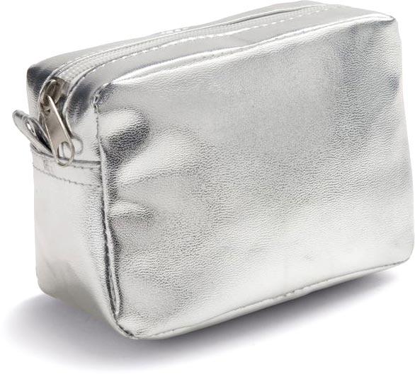 Kosmetická taštička matně stříbrná