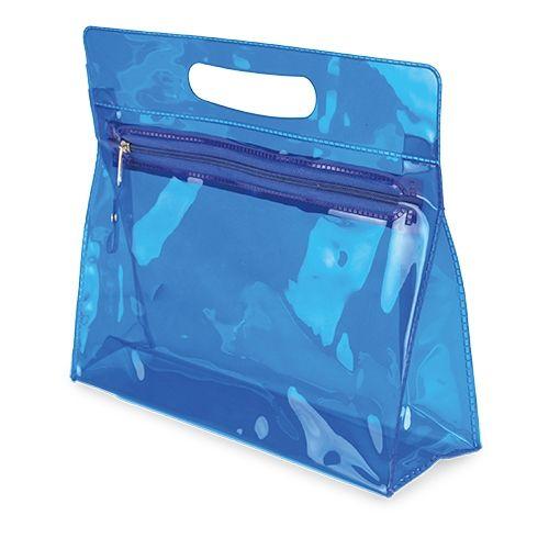Průhledná toaletní brašna Marta modrá