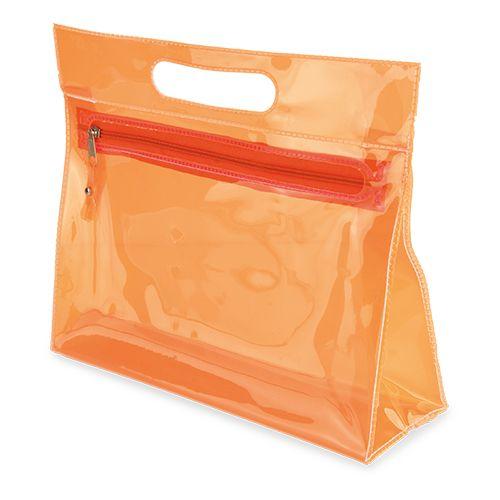Průhledná toaletní brašna Marta oranžová