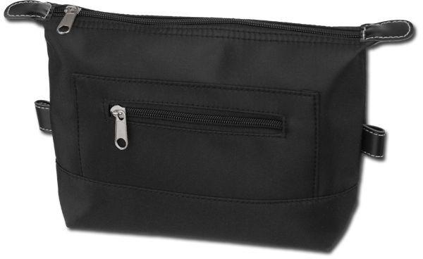 IDEN polyesterová kosmetická taška, mikrovlákno, černá
