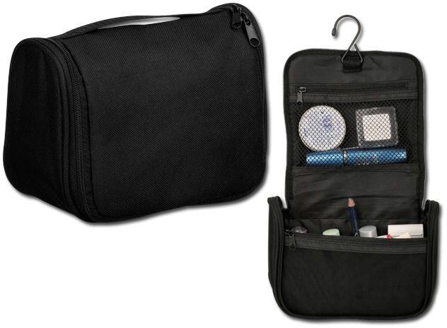 ADERES polyesterová kosmetická taška, 600D, černá