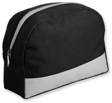 ROSETA polyesterová kosmetická taška, 600D, černá