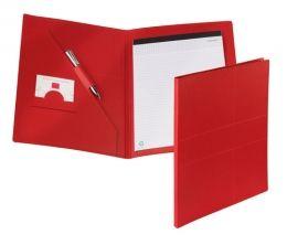 Červené desky na dokumenty z recyklovaného papíru