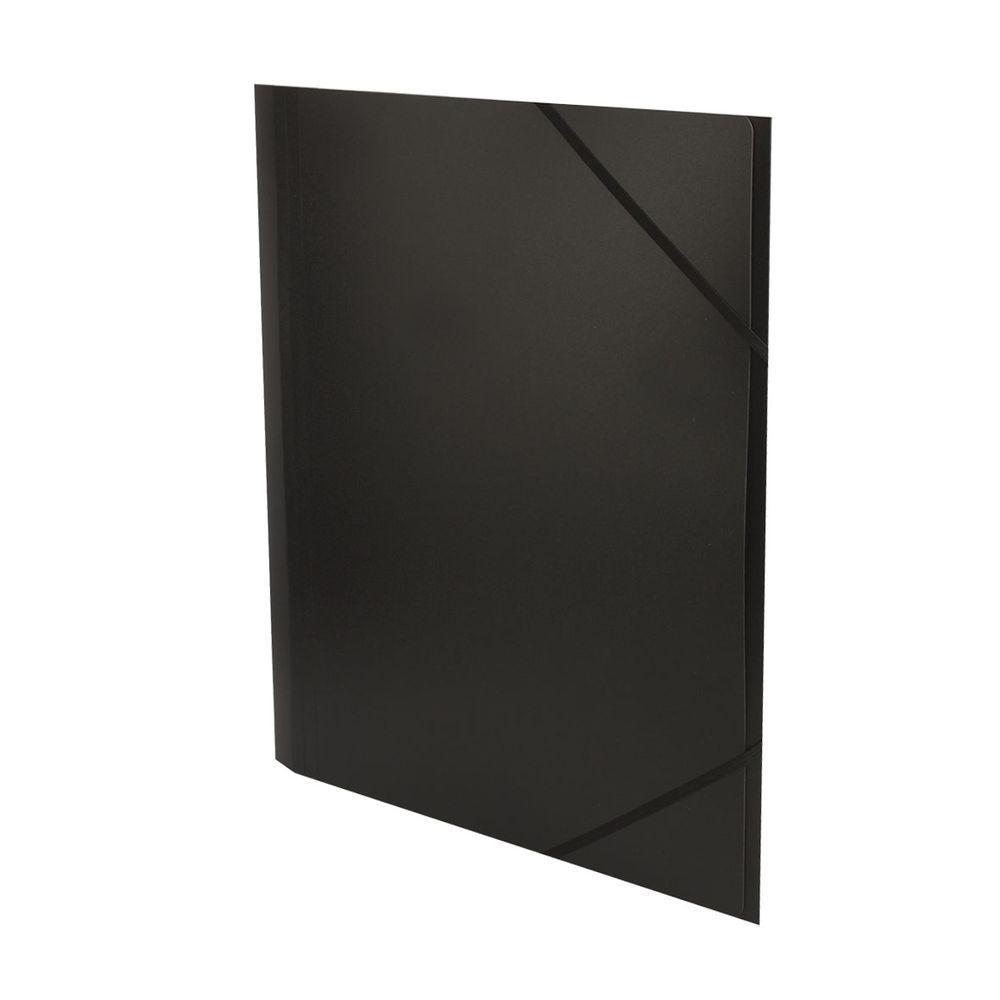 Sloha A4 tříklopá s gumičkou černá