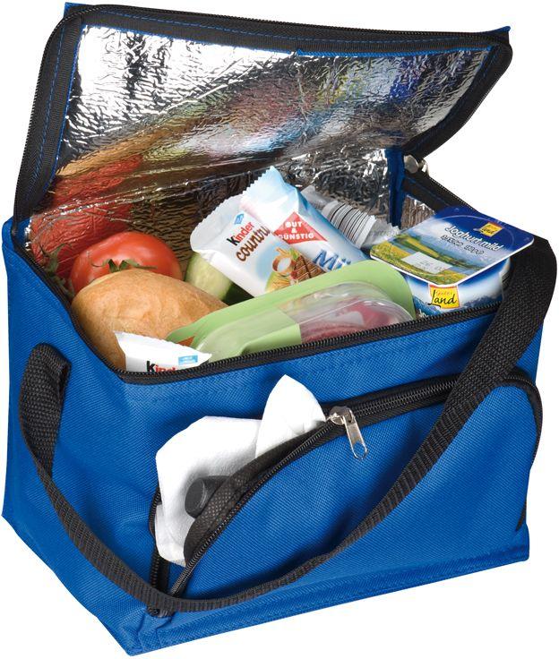 Modrá chladicí taška s přední přihrádkou