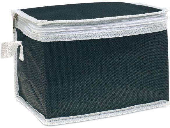 Černá chladicí taška na 6 plechovek