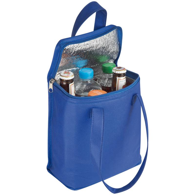 Netkaná modrá chladicí taška