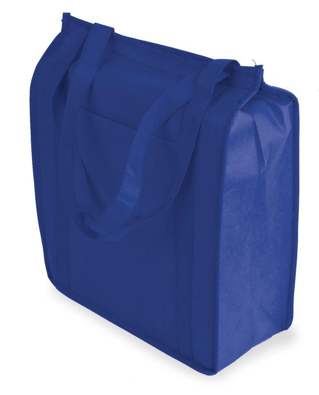 Netkaná termo taška modrá