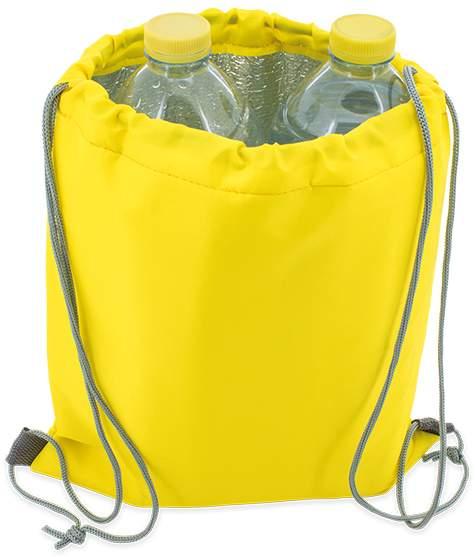 Dětský stahovací batoh, žlutá