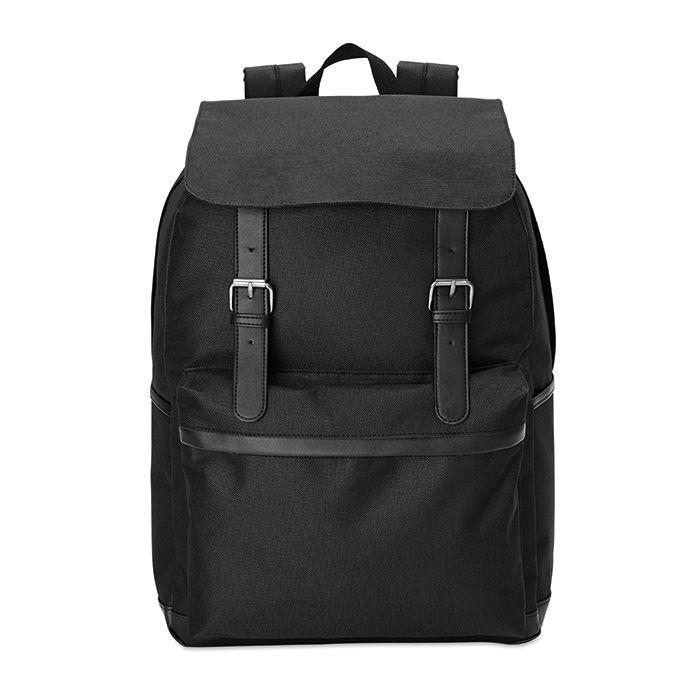 Černý 15palcový notebook batoh s potiskem