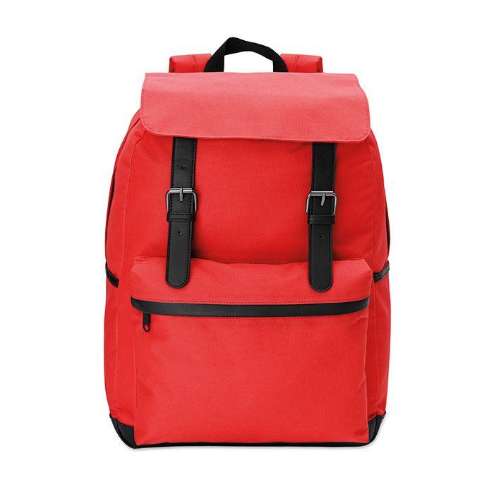 Červený 15palcový notebook batoh