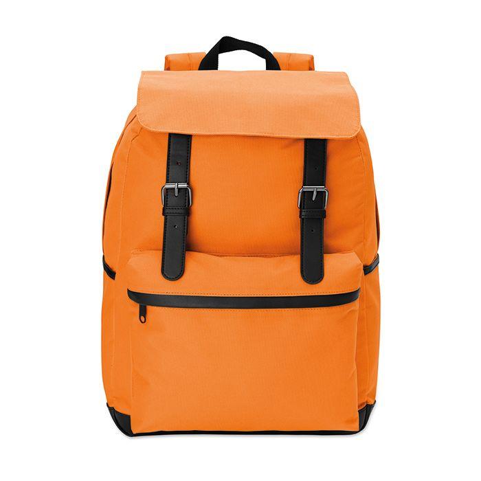 Oranžový 15palcový notebook batoh