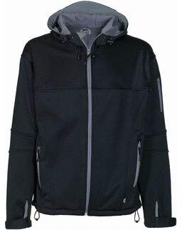 Soft shell bunda černá-šedá