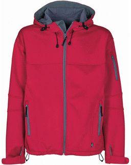 Soft shell bunda červená-šedá