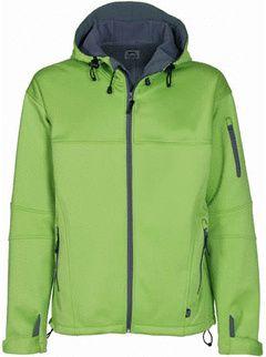 Soft shell bunda středně zelená-šedá s potiskem