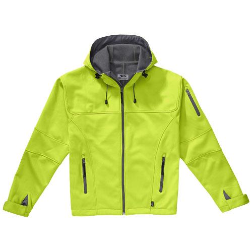 Soft shell bunda středně zelená-šedá