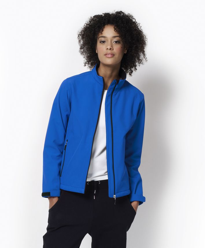 Softshellová modrá dámská bunda