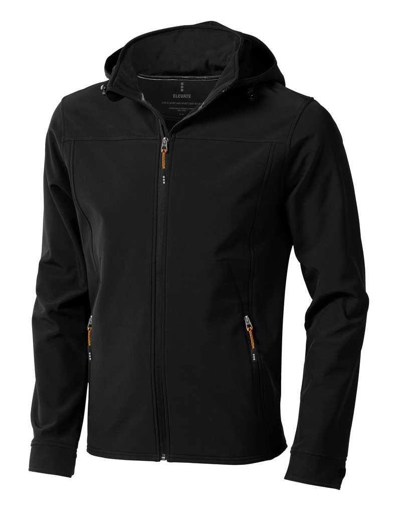 Langley softshellová bunda černá s potiskem
