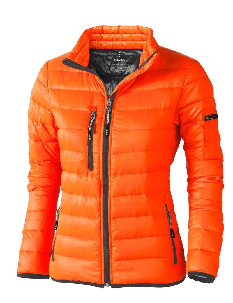 Scotia lehká dámská péřová bunda oranžová