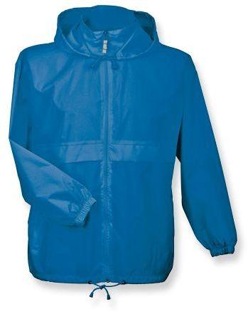 SIROCCO unisex větrovka s kapucí, BC, modrá