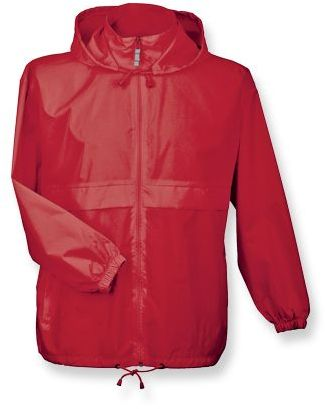 SIROCCO unisex větrovka s kapucí, BC, červená