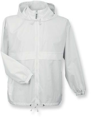 SIROCCO unisex větrovka s kapucí, BC, bílá