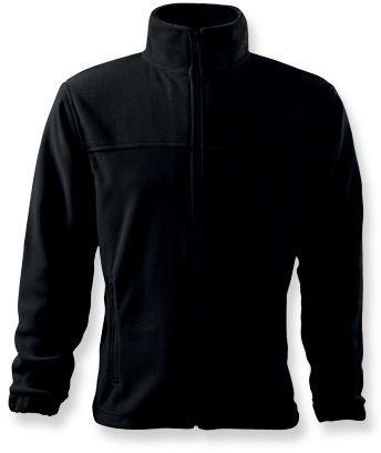 OLIVER pánská fleecová bunda, 280 g/m2, ADLER, černá