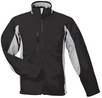NORDIC unisex fleecová bunda, 300 g/m2,SOLS, černá